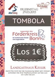 Tombola zugunsten krebskranker Kinder